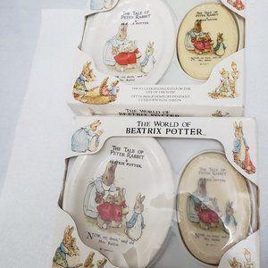 Beatrix Potter Peter rabbit soap, soap dish 1988